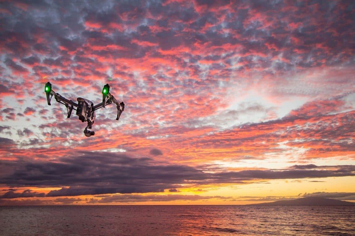 4K Drones in the sky