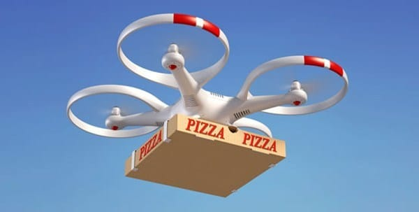 Drone Delivering Pizza