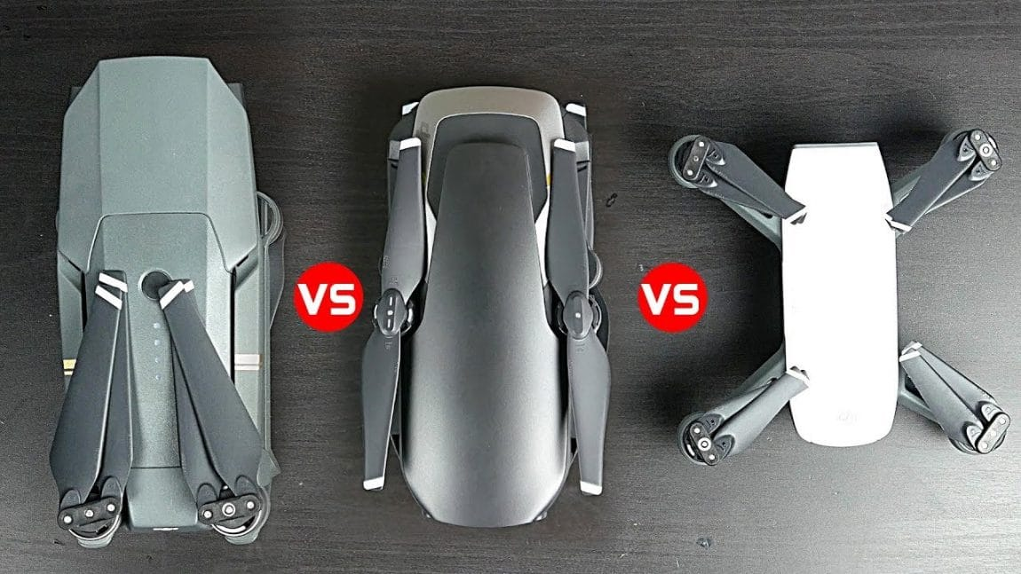 DJI Spark vs Mavic Air vs Mavir Pro 2