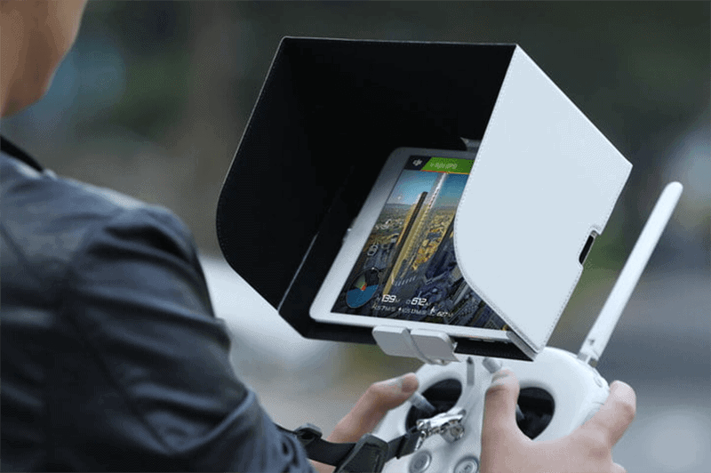 tablet with drone