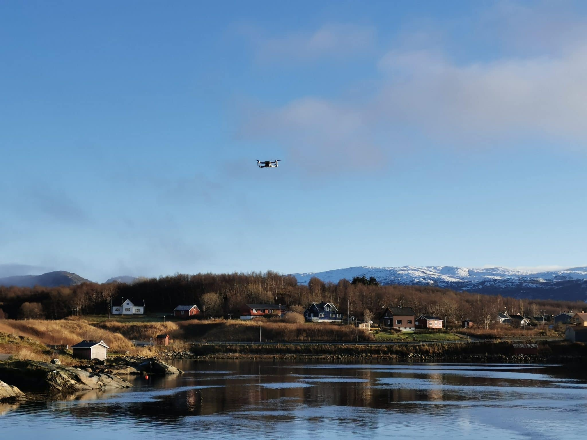 Mavic mini flying in norway
